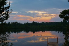 Northwoods Sunset (chumlee10) Tags: county sunset color reflection nature beautiful wisconsin wonderful outdoors dock iron niceshot dusk gorgeous sony scene mercer wi a300 mygearandme mygearandmepremium ringexcellence