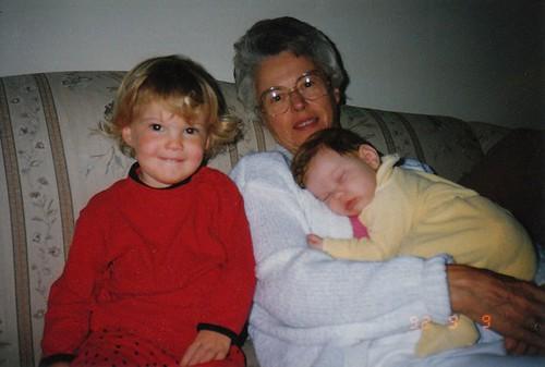 Lindsay, Britta and my grandma