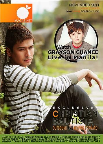 November 2011 Cover - Christian Bautista