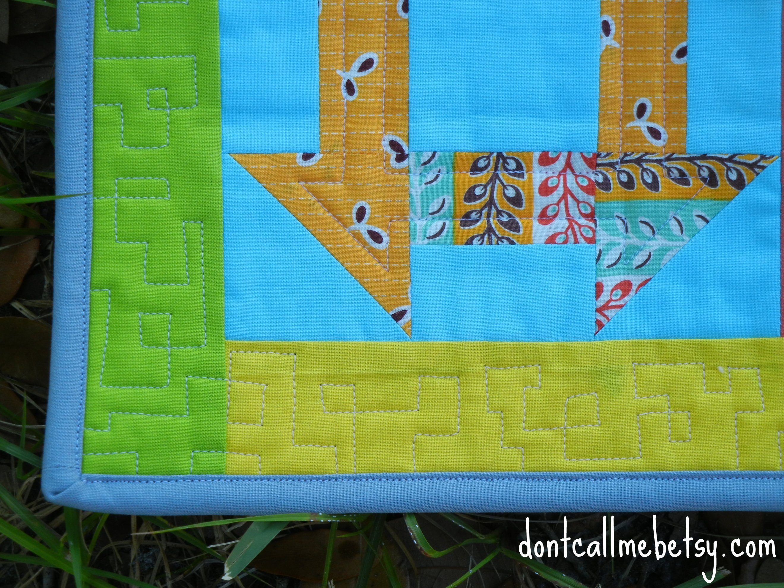 A Dash of Fancy border quilting