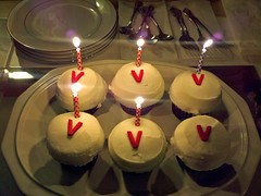 Happy Birthday to me - 11.11.11 (desbah) Tags: birthday cupcakes candles 11|11|11