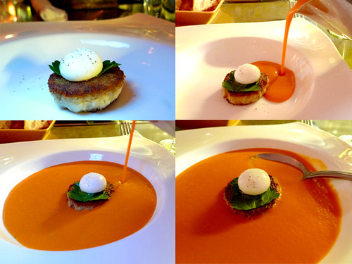 San Marzano Tomato Veloute at Le Comptoir