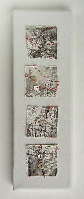 Red thread on collagraph