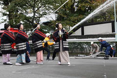 We are fire fighters !! (Teruhide Tomori) Tags: japan kyoto maiko geiko 京都 日本 祇園 gion firefightingtraining 舞妓 花街