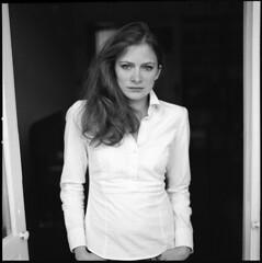 K. (__Daniele__) Tags: portrait 120 6x6 monochrome blackwhite hasselblad schwarzweiss ilford panf