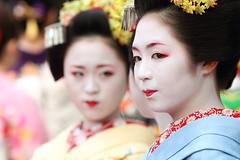 Kyo Maiko (Teruhide Tomori) Tags: festival japan hair kyoto maiko geiko   kimono teaceremony teaparty  kanzashi   kamishichiken      earthasia ichitomo