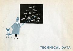 TECHNICAL DATA (zombikombi1959) Tags: vw illustration vintage volkswagen print design graphics automotive 1957 equation data manual maths sums ownersmanual