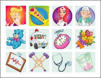 free Doctor Love Slots game symbols
