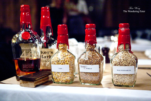 Elements that make Maker's Mark Bourbon Whiskey