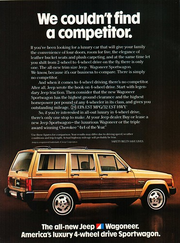 Jeep Wagoneer No Competitor Ad by lee.ekstrom