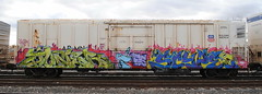 Juner, Scupe (208 Bench) Tags: art train graffiti smash rails graff freight fs dtt trainart stv armn juner railroadart boxcarart freighttraingraffiti scupe