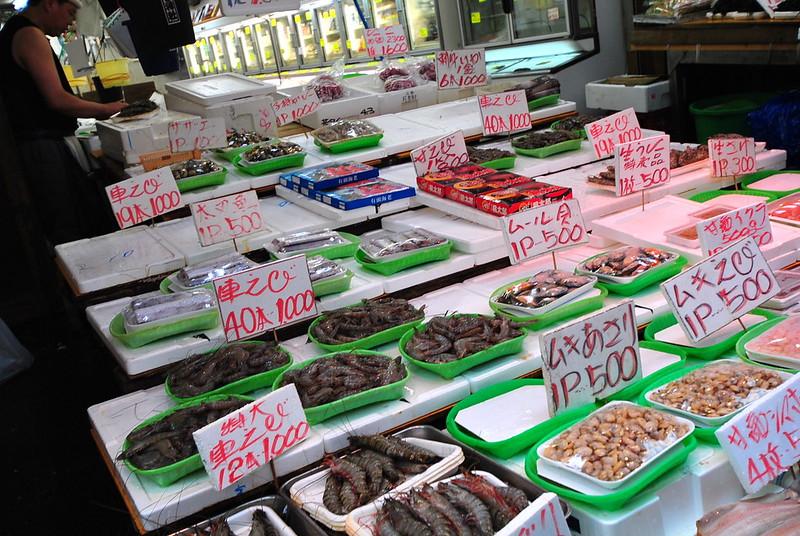 shotengai shopping street japan fish market ameya yokocho ueno