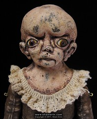 Amberlyn  Exquisite Monster Art Doll (Shain Erin) Tags: original sculpture strange monster doll ooak fineart victorian surreal unusual artdoll medicalmodel humanoddity shainerin