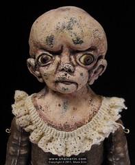Amberlyn – Exquisite Monster Art Doll (Shain Erin) Tags: original sculpture strange monster doll ooak fineart victorian surreal unusual artdoll medicalmodel humanoddity shainerin