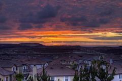 Thanksgiving Sunset (x-ray tech) Tags: california thanksgiving light sunset red orange house holiday west color detail beautiful yellow composition photoshop interestingness high nice interesting twilight exposure flickr pretty day dynamic sandiego random dusk horizon tripod hill radiance fine sharp explore adobe level capture range hdr infinite timeless endless chulavista photomatix bracketed otayranch americasfinestcity cs5 efs1755mmf28is canoneos60d