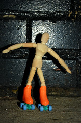 Art Every Day - Day 25 (flailing DORIS) Tags: november art mannequin wooden artist day every roller month skates