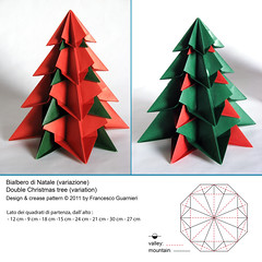 Bialbero di Natale (variazione) - Double Christmas tree (Variation) (f.guarnieri) Tags: christmas xmas sculpture plants holiday tree art nature natal pinetree paper paperart weihnachten star navidad 3d origami arte geometry estrela natura noel christmastree symmetry ornaments modular estrellas rbol papel cp nol weihnachtsbaum albero stern pino abete natale papier arbre rvore decorao estrella paperfolding papiroflexia baum homedecor carta octagon dcoration sapin firtree unit papercrafts tanne dcor toile alberodinatale geometria ornement pinheiro dekoration abeto decoracin creasepattern dobradura  arbredenol  ornamentos sapindenol rvoredenatal pliage rboldenavidad papierfalten fguarnieri