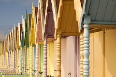 At the Beach (Cudders130) Tags: beach coast seaside colours pastel beachhuts mersea