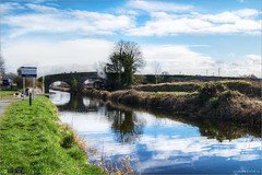 Steaming Under Pike Bridge (bbusschots) Tags: bridge ireland reflection clouds train canal path rail railway maynooth hdr pathway towpath steamtrain topaz kildare steamlocomotive royalcanal photomatix tonemapped tthdr rpsi pikebridge no186 topazadjust maynoothshuttle
