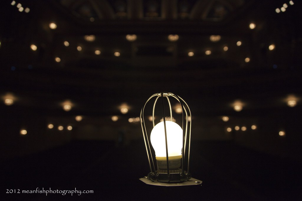 Ghost Light (josh_p75) Tags: Lighting Light White Black Bulb Theater Theatre  Bokeh Stage