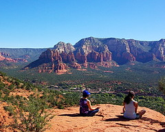 Meditating on Airport Mesa Vortex - Sedona
