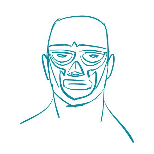 wrestler sketch
