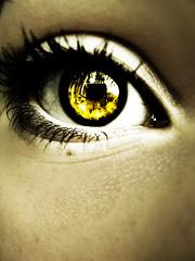Eye (Emily.p) Tags: brown eye beautiful yellow pretty mascara supermacro