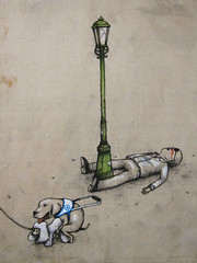 Badda Boom Badda Blind (Dr Case) Tags: barcelona dog man gallery blind ras dran
