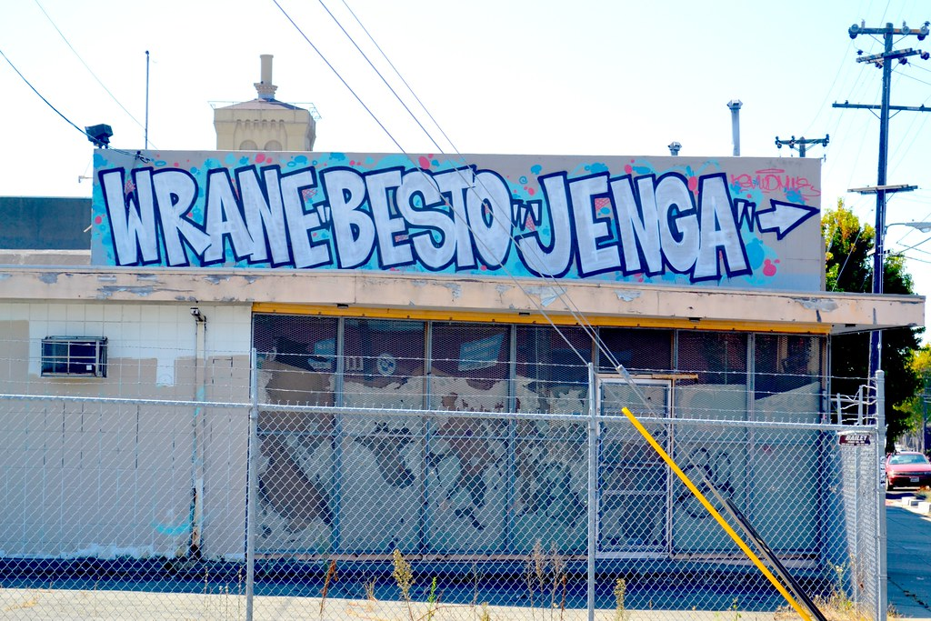 WRANE, BESTO, JENGA, Street Art, Graffiti, East Bay,