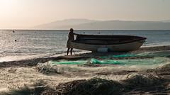 Cabo De Gata - Nijar (Simona Pellegrini) Tags: parco mediterraneo barca tramonto mare andalucia uomo sole acqua spiaggia spagna pescatore caldo oasi reti cabodegatanijar