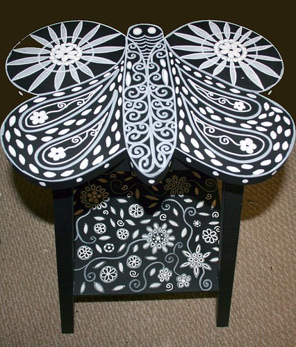 Butterfly Accent Table by Rick Cheadle Art and Designs