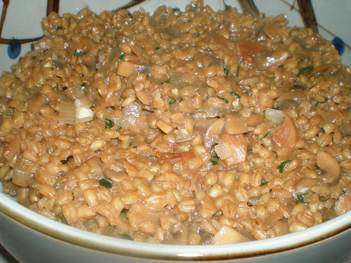 Barley Risotto with Wild Mushrooms and Fresh Herbs