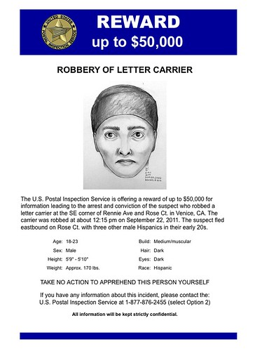 USPS: $50k Reward for Info on Venice Robber - Yo! Venice!