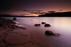 another sunset (< Nick Friend >) Tags: longexposure sunset sky water clouds rocks australia nsw centralcoast hawkesburyriver darkcorner patonga