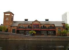 Canalside pub (Maycot2) Tags: water canal pub birmingham redbrick