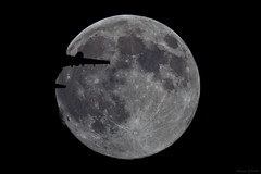 Hunters Full Moon - October (AdrianJScott) Tags: moon fullmoon hunters airtraffic occultation fullmoonproject huntersfullmoon