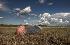 nap (davedehetre) Tags: road autumn portrait sky cloud sun storm face field sunshine weather nap head sleep sunny kansas recline