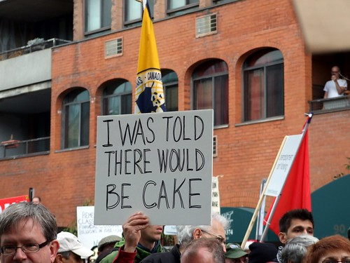 Occupy Toronto - I was told there would be cake