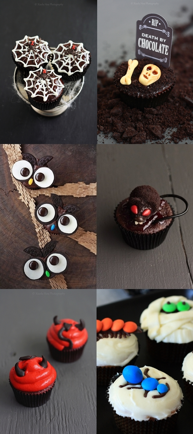 Halloween Cupcakes Collage V.2