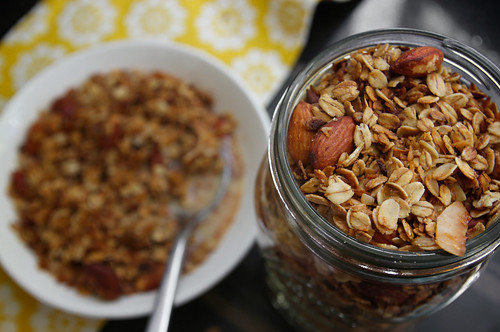 coconut maple granola