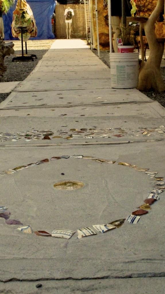 A Path of Inlayed Ceramic