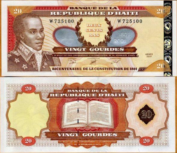 20 Gourdes Haiti 2001, Pick 271A