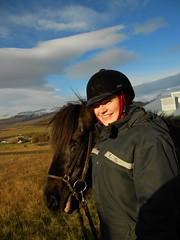 Caro und ihr Pferdchen Bylgja