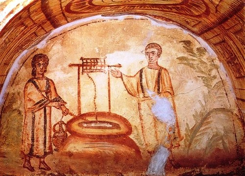 Pintura en Catacumbas de Via Latina