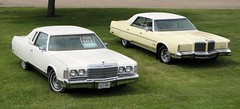 1974 & 1978 Chrysler New Yorker Broughams (DVS1mn) Tags: new white cars hardtop car yellow four 1974 seventy 1978 chrysler mopar 78 74 eight coupe nineteen yorker brougham wpc 2door walterpchrysler 4door chryslercorporation nineteenseventyeight nineteenseventyfour