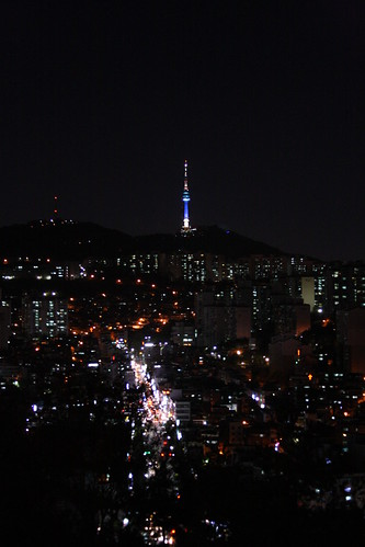 Namsan Tower at Night by kiki5253