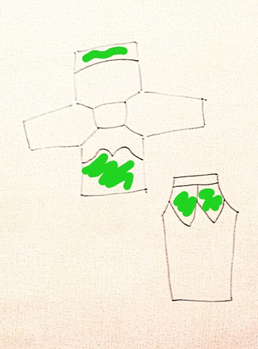 Tinkerbell pj/costume layout