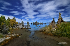 Midnight Shipwreck on Mono Lake, California (Darvin Atkeson) Tags: mountain lake rock stars landscape star mono desert nevada eerie sage sierra shipwreck yosemite midnight moonlight eastern range tufa constellations formations bigdipper starlight darvin tufas atkeson darv liquidmoonlightcom