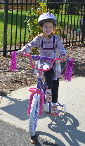 Maddie on her new bike