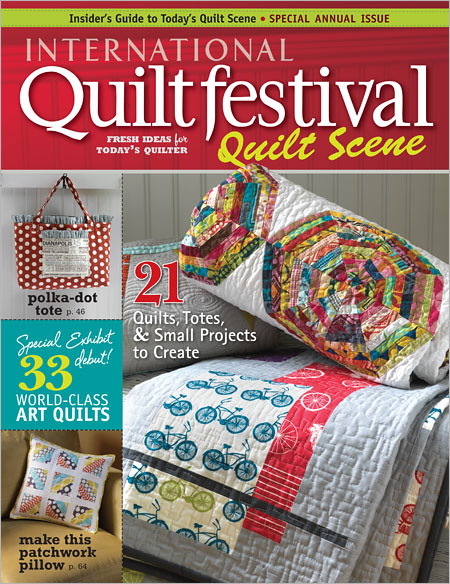 Quilt Scene 2011/2012 Cover with my spiderweb quilt!!!